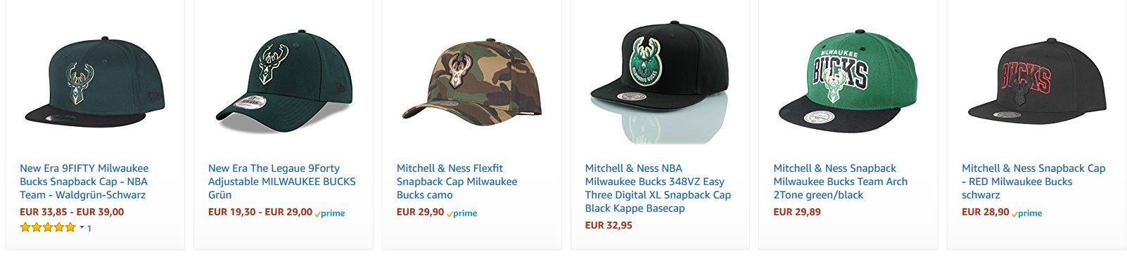 Milwaukee Bucks Cap auf Amazon kaufen