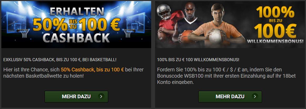 18Bet Sportwetten Bonus - Angebote