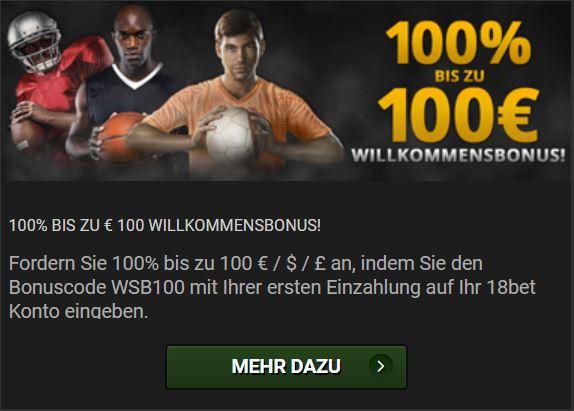 18Bet Sportwetten Bonus