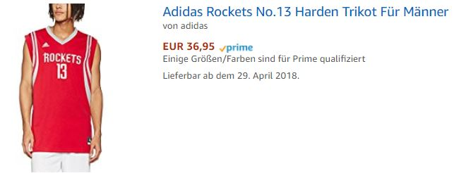 James HArden Trikot bei Amazon