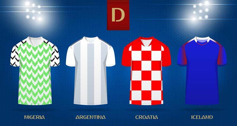 WM Trikots 2018 - Island, Argentinien, Kroatien, Nigeria