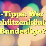 Wett-Tipps: Wer wird Torschützenkönig der Bundesliga?