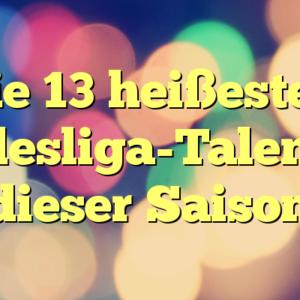 Die 13 heißesten Bundesliga-Talente in dieser Saison