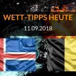 Länderspiel Vorhersage - Wett-Tipps heute zu Island gegen Belgien