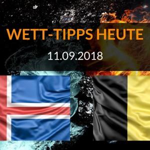 Länderspiel Vorhersage – Wett-Tipps heute zu Island gegen Belgien
