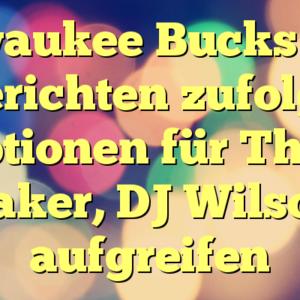 Milwaukee Bucks wird Berichten zufolge Optionen für Thon Maker, DJ Wilson, aufgreifen