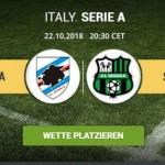 Wett-Tipps heute: Samptoria Genua - Sassuolo (Serie A / Italien)