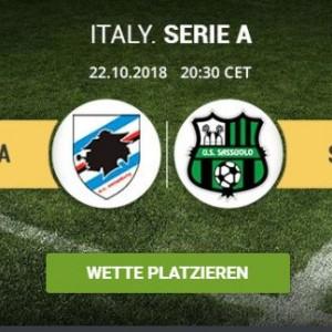 Wett-Tipps heute: Samptoria Genua – Sassuolo (Serie A / Italien)