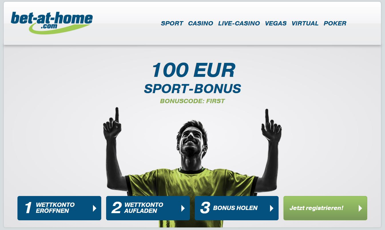 Sportwetten Bonus von Bet-at-home