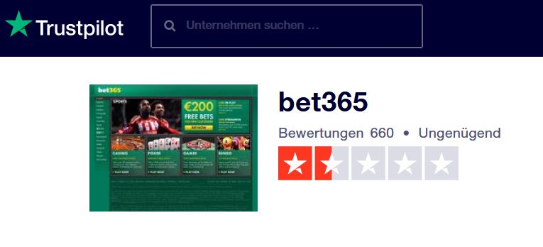 Sportwetten Test Bet365 - Trustpilot