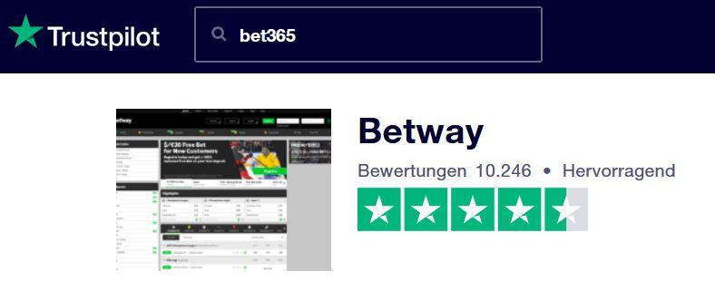 Sportwetten Test Betway - Trustpilot