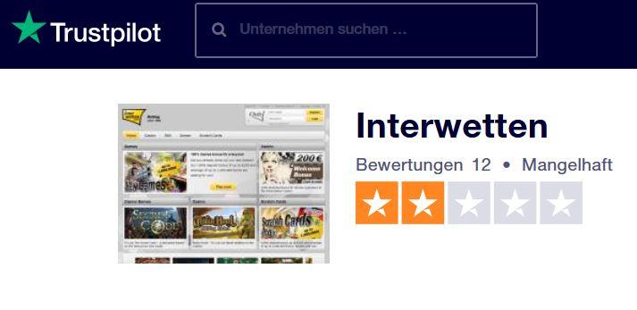 Sportwetten-Test Interwetten (Trustpilot)
