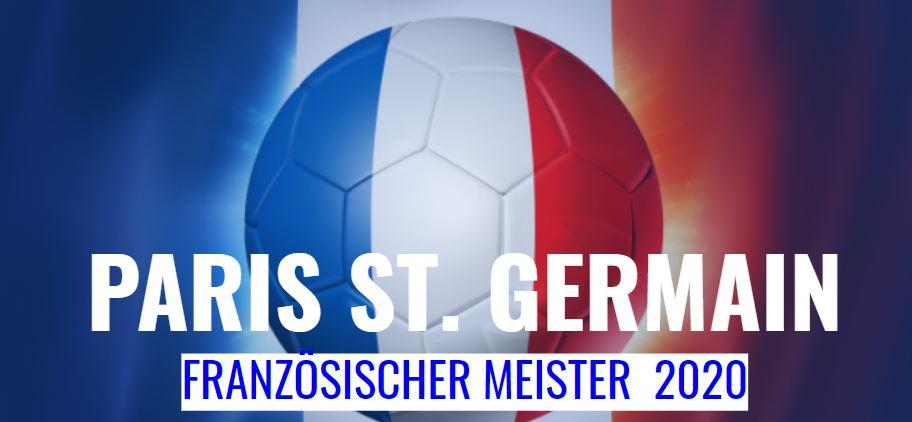 Französischer Meister 2020 - PAris St. Germain
