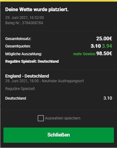 Deutschland - England Wett-Tipps heute Achtelfinale Euro2020